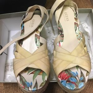 Guess strappy Floral espadrilles